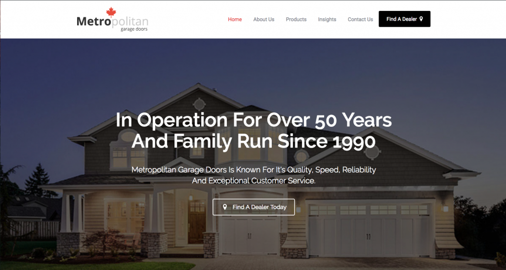 We proudly announce the launch of our newly redesigned website. & Welcome to our new website u2013 Metropolitan Garage Doors